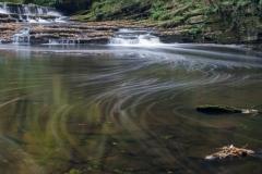 Below the weir, autumn, Tin Mill Rocher