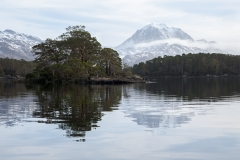 Slioch reflected in Loch Maree